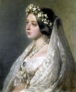 Casamento-da-Rainha-Vitória-1840a_Vitória-com-seu-vestido-de-noiva