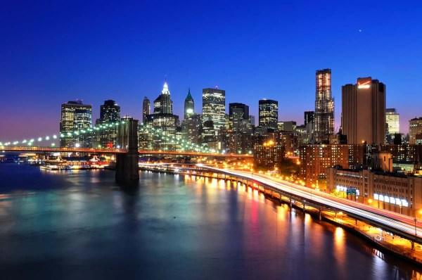 Lower Manhattan Skyline from the Manhattan Bridge, New York City